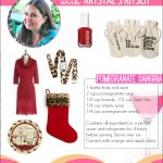 Leopard Print Christmas Ideas & Pomegranate Punch