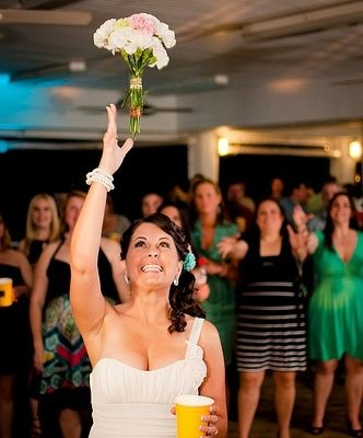 Wild Wedding: The Reception {Bouquet/Garter Tossing}