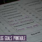 July Blog Goals >> Free Blog Goals Printable