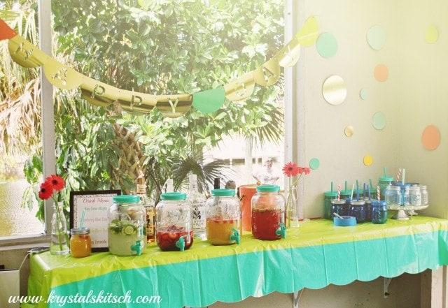 Aladdin Mason Jar Party Display