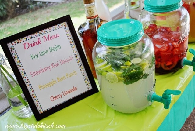 Mason Jar Drink Menu