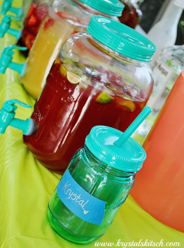 Mason Jar Tumblers Party IDeas