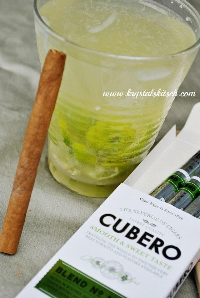 Cubero Cigar and Caipirinha Cocktail