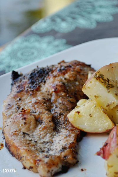 Lemon Butter Pork Chops With Rosemary Potatoes Recipe #shop