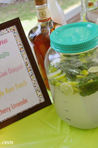 Create a DIY Rum Bar for your next party!