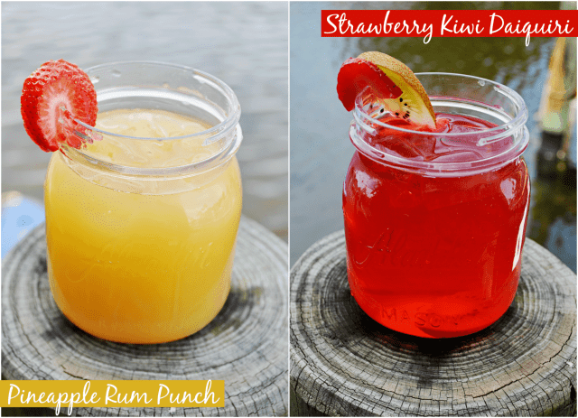 Fruit Cocktail Recipes: Strawberry Kiwi Daiquiris and Pineapple Punch!