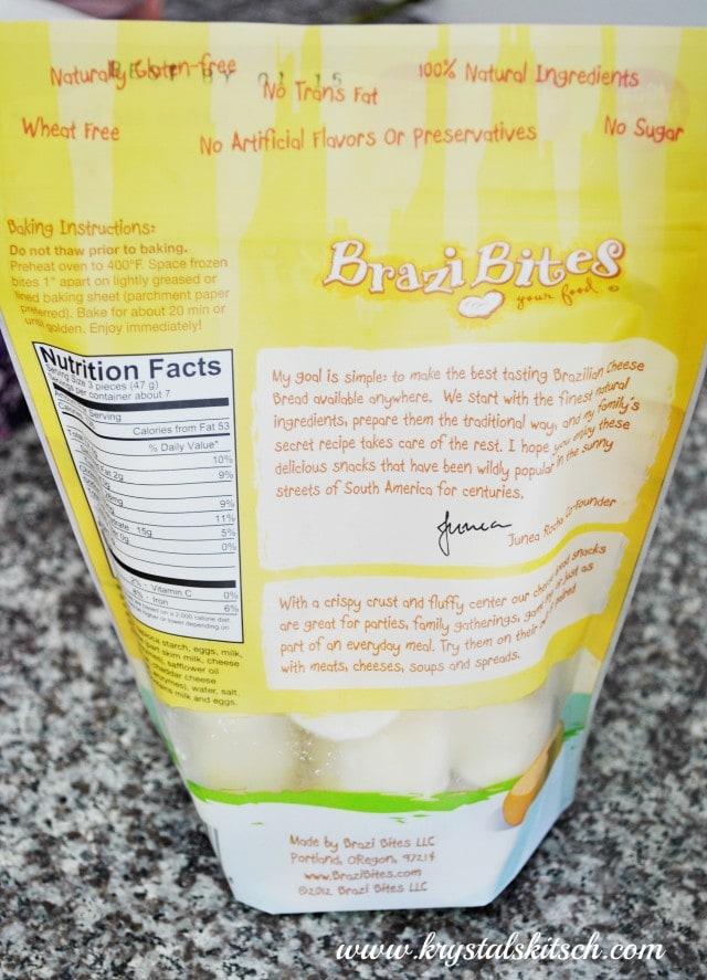 Brazi Bites Nutrition