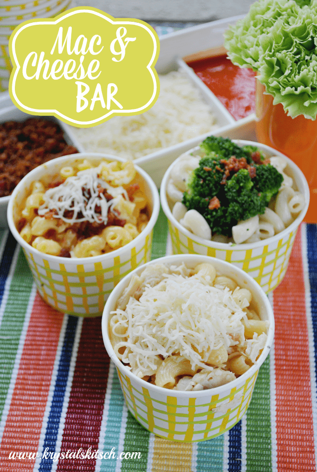 Easy mac and cheese bar recipes for Bar food ideas recipes