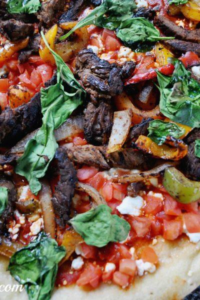 Fajita Pizza Recipe Paired With Cambria Wine