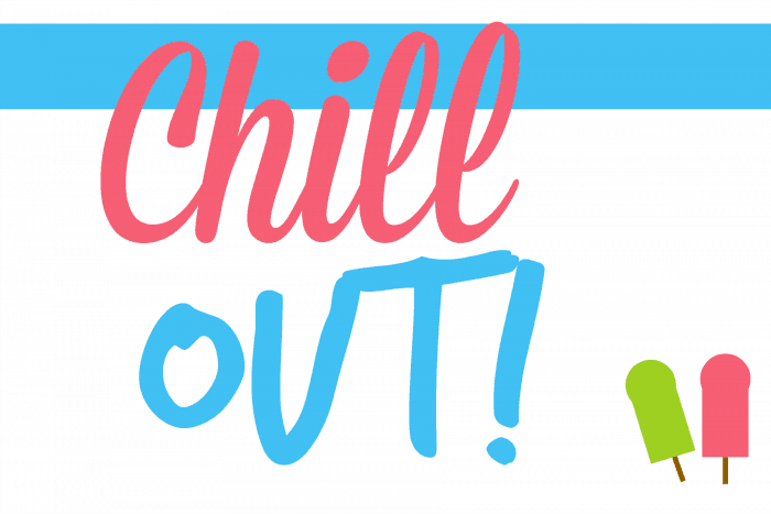 Chill Out Summer Party Free Printable Sign