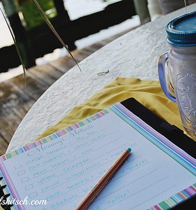 Morning Motivate Checklist