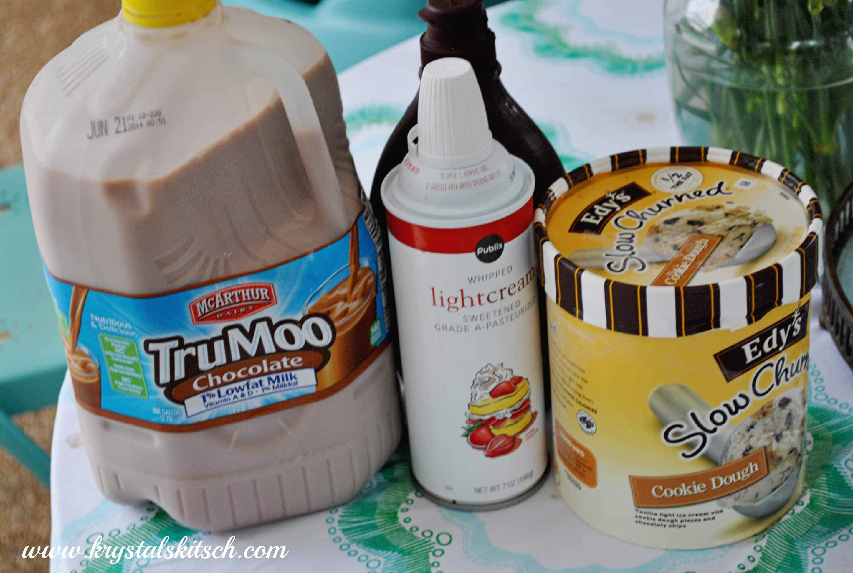 Chocolate Cookie Dough Milkshake Recipe