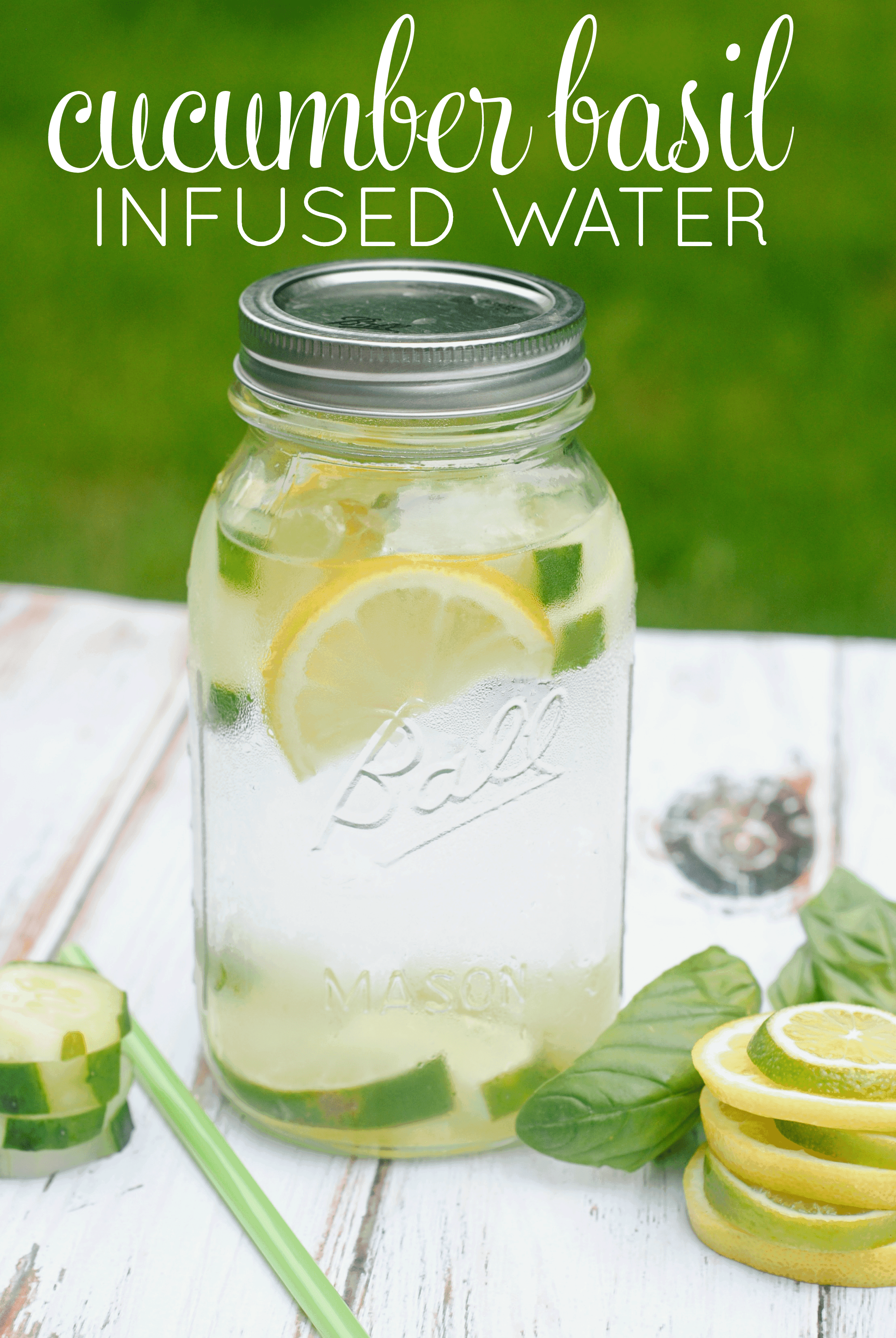 Cucumber Basil Infused Water Recipe
