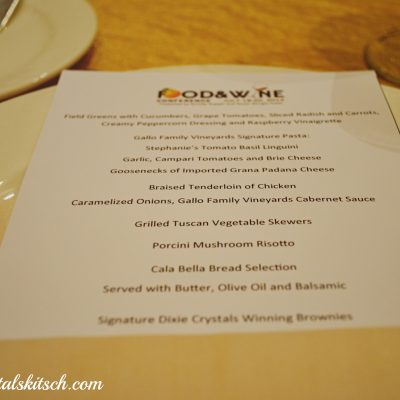 Food and Wine Conference Menu
