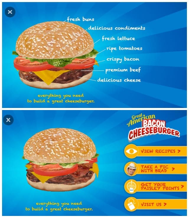 Kraft Say Cheeseburger Blippar App Paisley Points