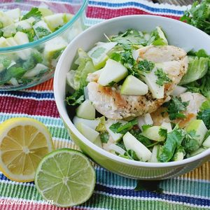 Chicken Salad With Apple Pico de Gallo