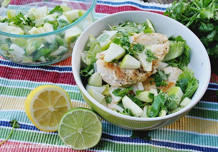 Chicken Salad with Apple Pico de Gallo Recipe