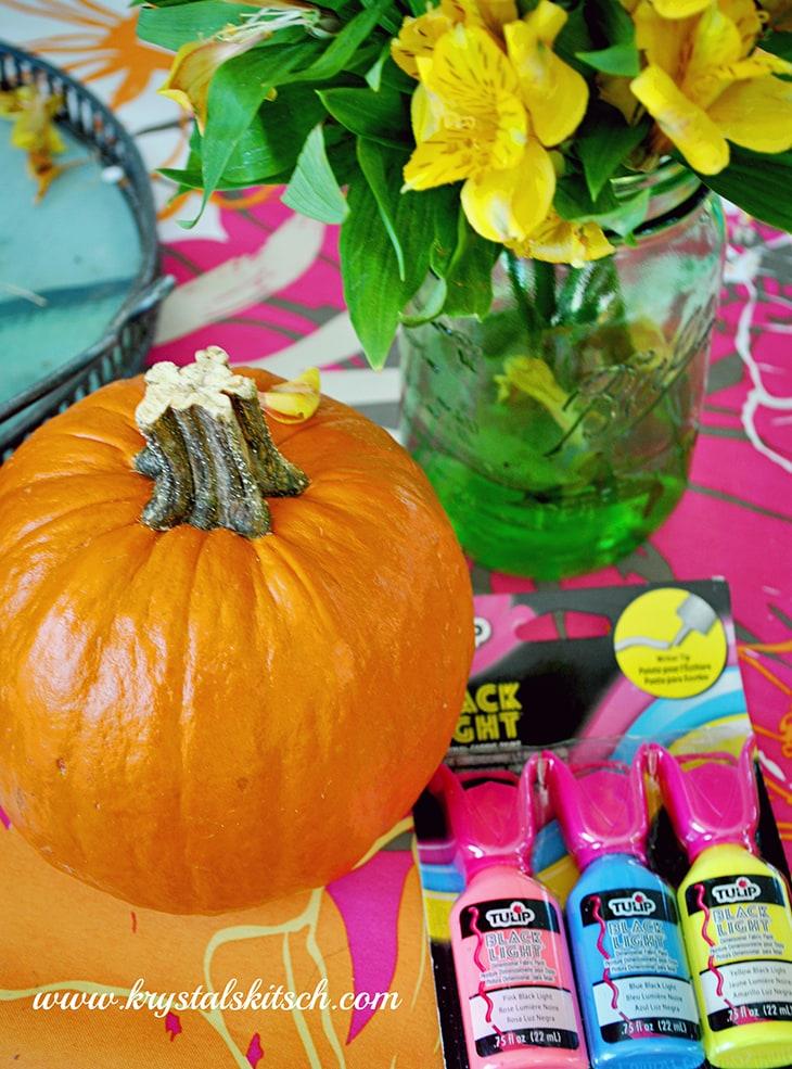 Black Light Address Pumpkins