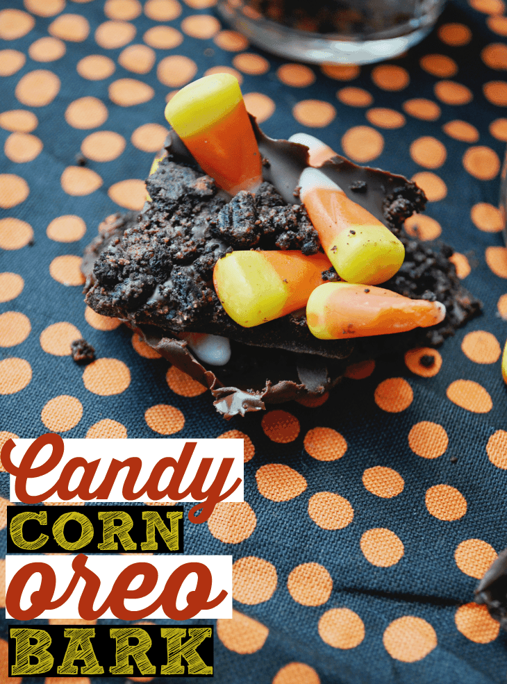 ... Oreos, and top with candy corn. This candy corn bark is the best