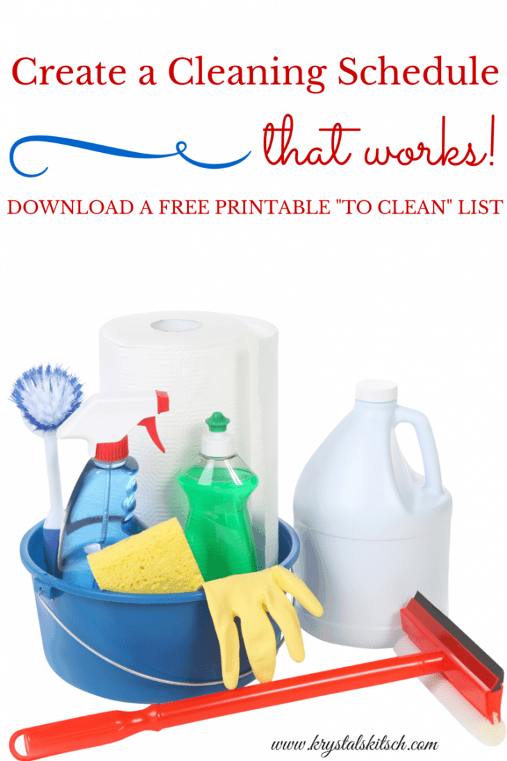 Create a Cleaning Schedule That Works