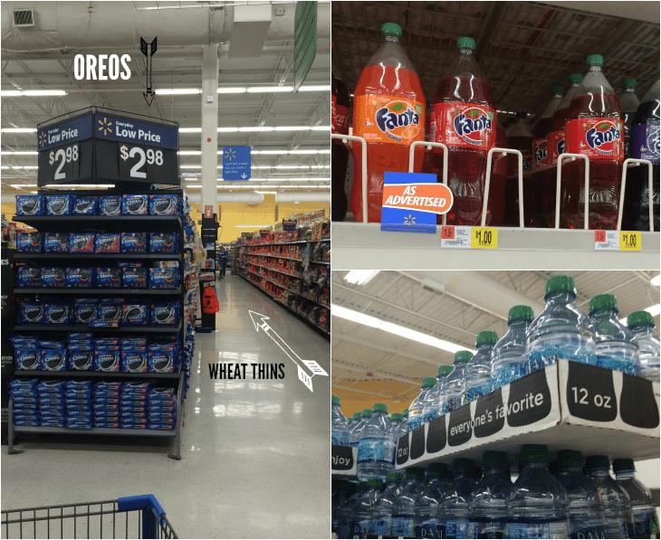 Oreos and Wheat Thins at Walmart