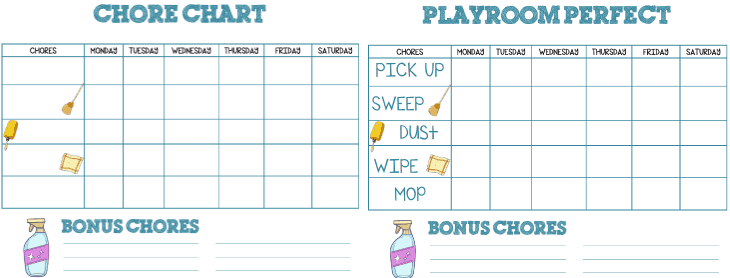 Download this free printable chore chart to clean your playroom in a hurry!