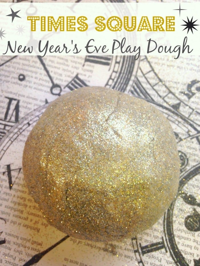 Gold Glitter Play Dough