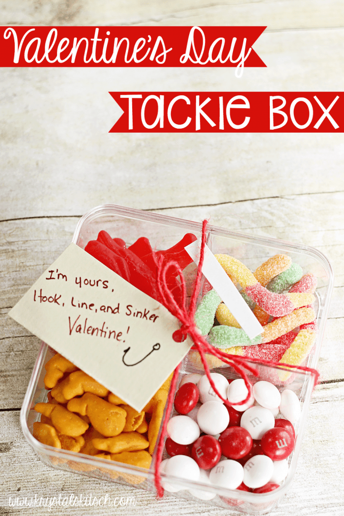 Easy Valentines Day Cards Tackle Box Treats – Create Valentines Card