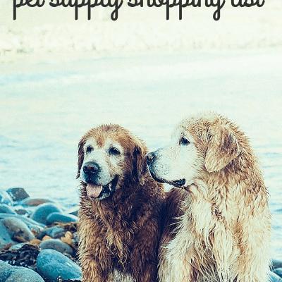 Dollar Store Pet Shopping List