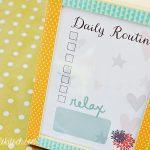Daily Routine Printable + Washi Tape Photo Frame DIY