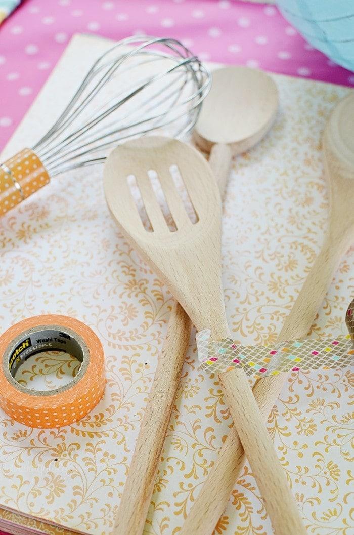 Washi Tape Kitchen Utensil