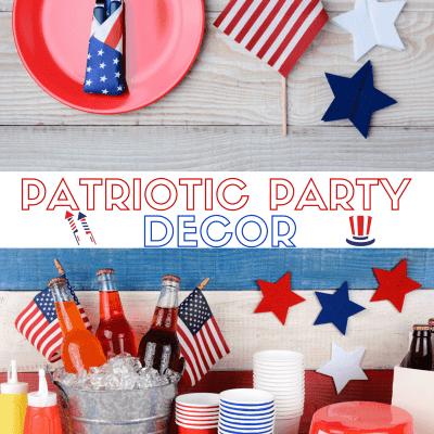 Patriotic Party Decor: July 4th Party Decor