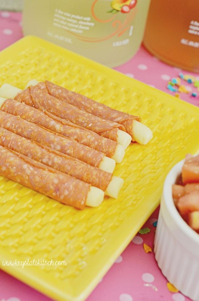 Pepperoni Cheese Sticks