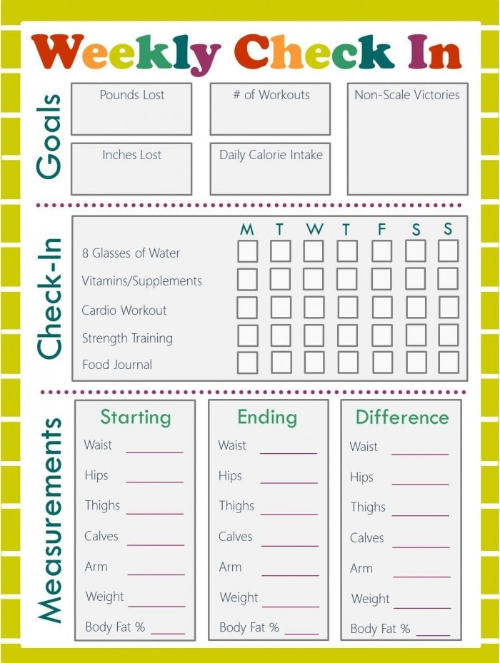 weekly fitness plan template - free fitness journal meal planning printables