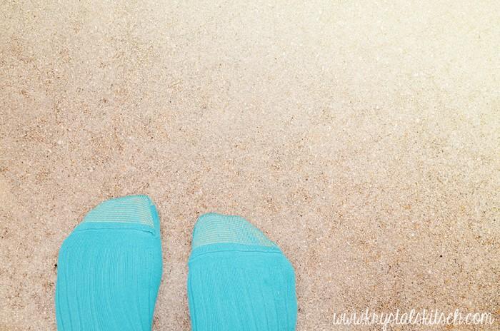 Blue Gold Toe Socks