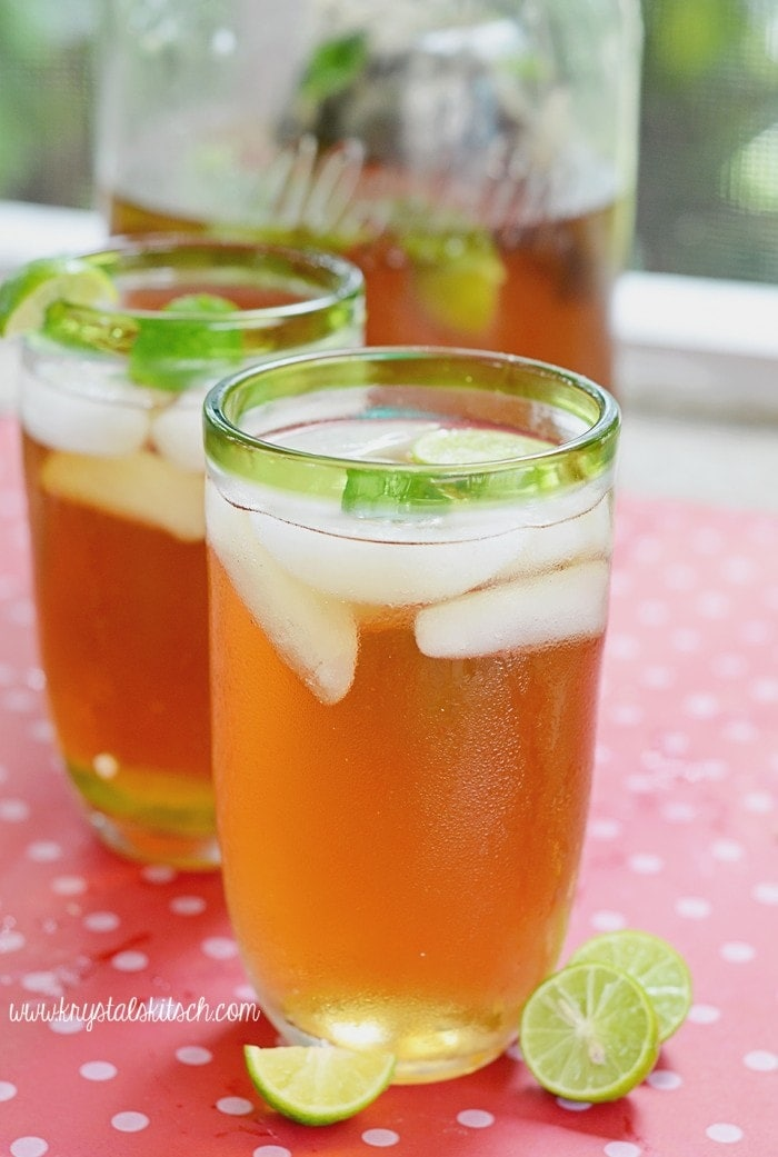 Mint Key Lime Iced Tea Recipe