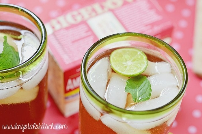 Mint Key Lime Iced Tea Recipe