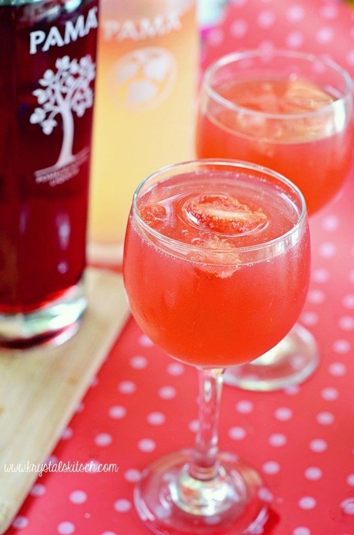 Strawberry Pomegranate Lemonade Cocktail