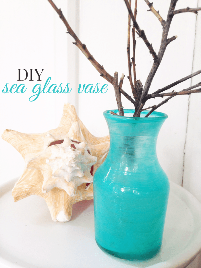 DIY Sea Glass Vase