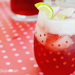 Sparkling Pomegranate Punch With Pomegranate Liqueur Pops