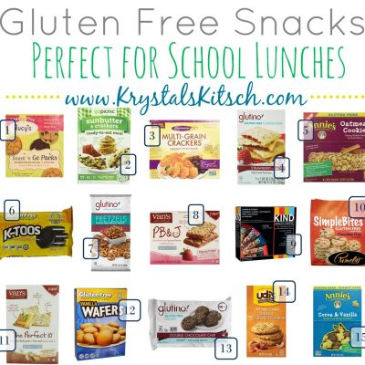 Gluten Free Snacks for Back to School