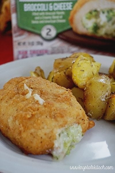 Barber Foods: Breaded Stuffed Chicken Breasts With Rosemary Potatoes
