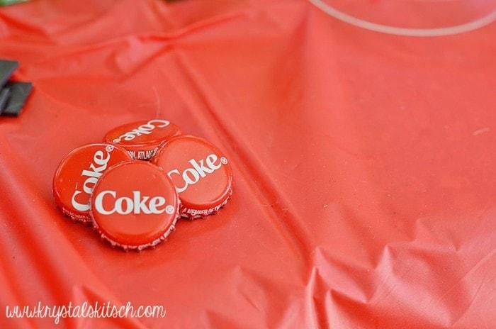 coke magnet diy