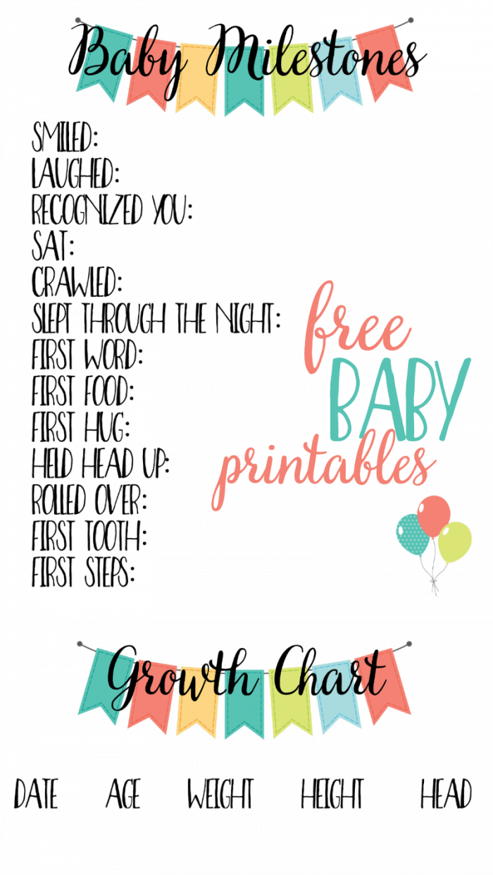 Free baby printables track milestones free baby printables geenschuldenfo Images