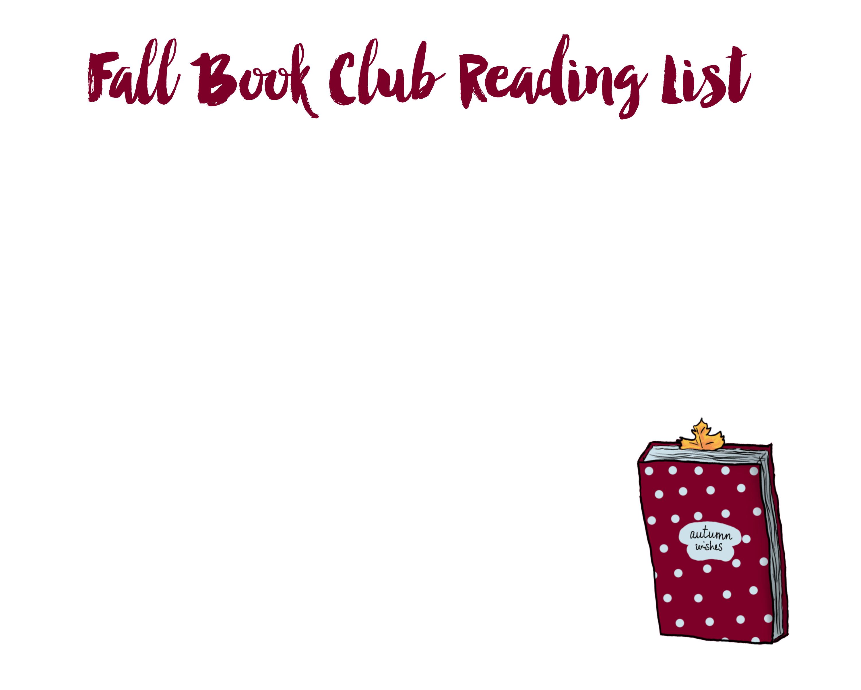 Fall Book Club Reading List
