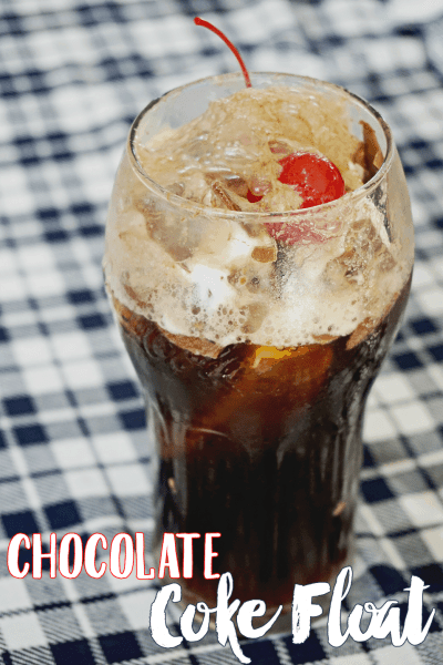 Cherry Chocolate Coke Float