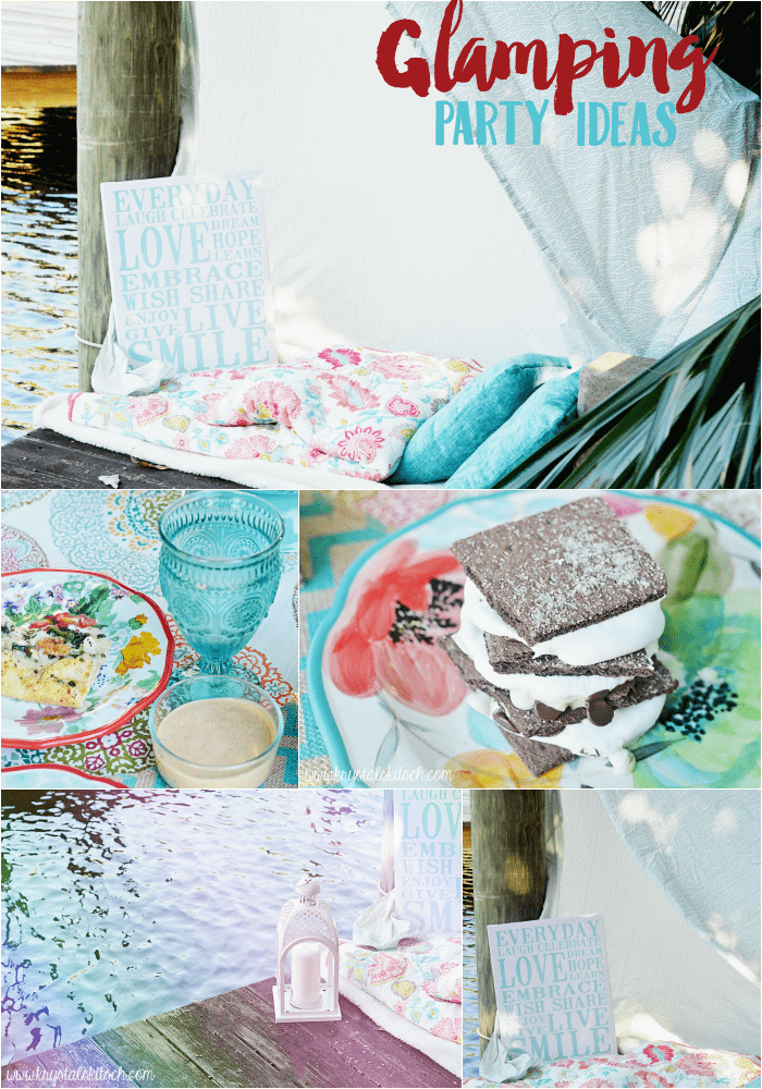 Host a fun glamping party with sweet treats and creative decor!