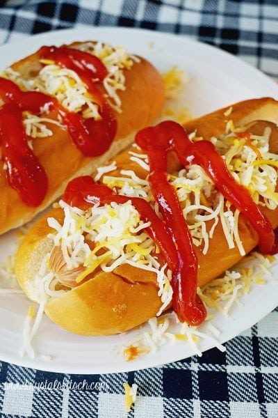 Cheesy Hot Dogs for a Tailgate Party