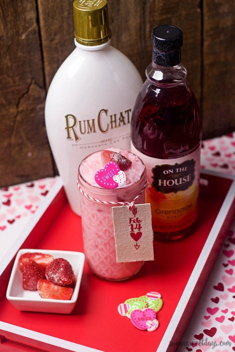 Valentine 39 s day rumchata cocktail recipe sunny sweet days for Cocktail recipe by ingredients