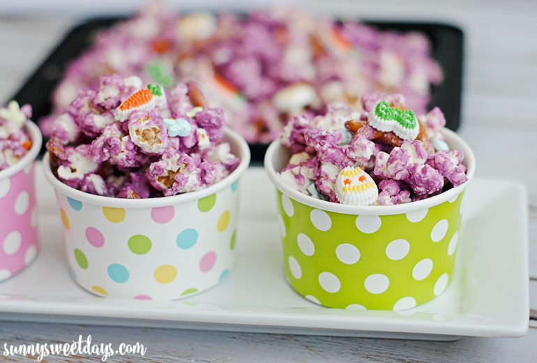 Sweet Spring Popcorn, shared by Sunny Sweet Days at The Chicken Chick's Clever Chicks Blog Hop